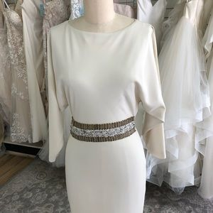 Badgley Mischka Fitted Wedding Gown with Sleeves